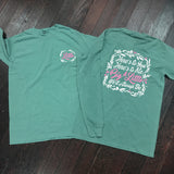 Big/Little Floral Sorority Comfort Colors Long Sleeve Shirt - Campus Connection - Campus Connection - 1
