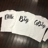 Big, Little, GBig, GGBig Script Sorority Family Comfort Colors Long Sleeve Shirt - Campus Connection - Campus Connection - 1