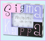 Sorority Block Picture Frame - Alexandra and Co. - Campus Connection - 15