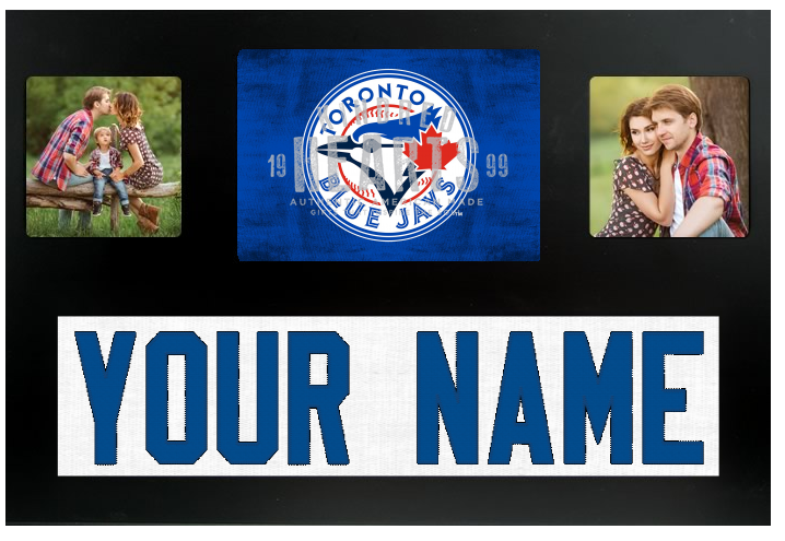 Toronto Blue Jays MLB Jersey Nameplate Custom Picture Frame