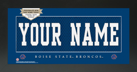 Boise State Broncos NCAA Jersey Nameplate Custom Framed Sign