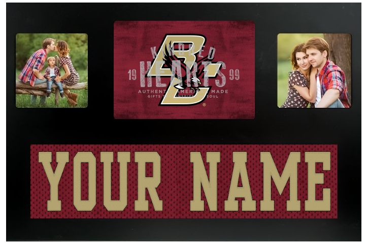 Boston College Eagles NCAA Jersey Nameplate Custom Picture Frame
