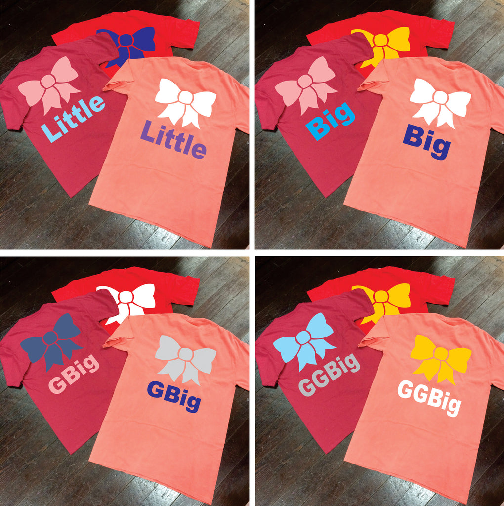 Big/Little/GBig/GGBig Sorority Bow Comfort Colors Frocket - Campus Connection - Campus Connection - 1