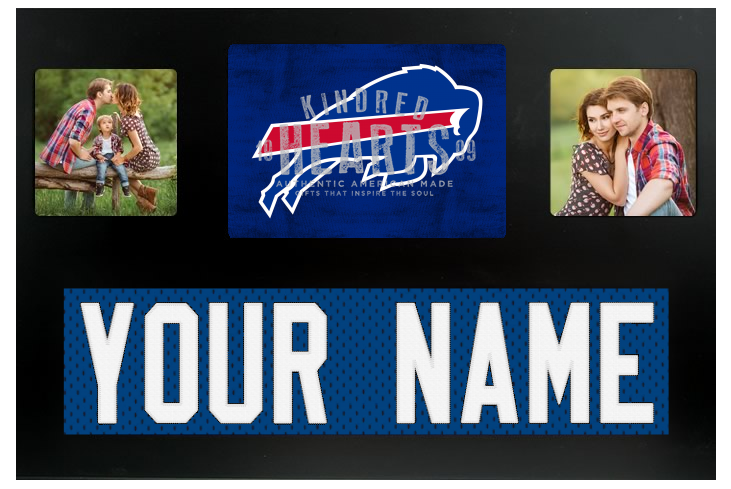 Buffalo Bills NFL Jersey Nameplate Custom Picture Frame – Campus ...