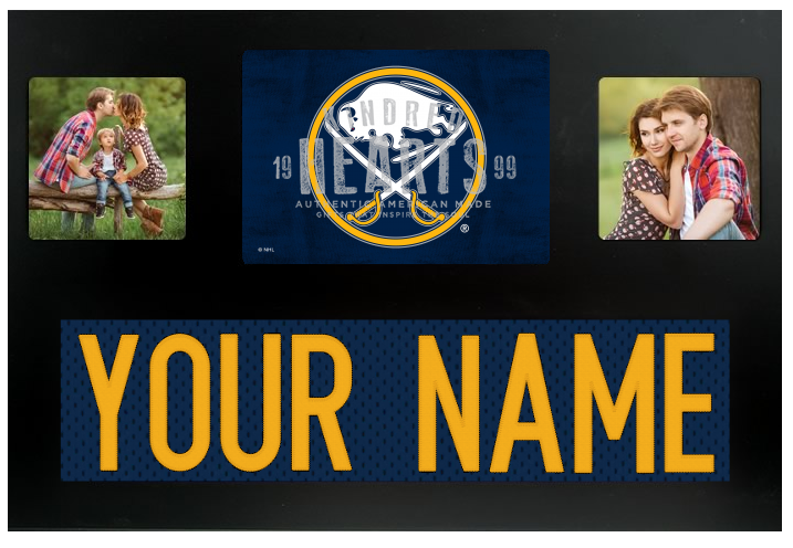 Buffalo Sabres NHL Jersey Nameplate Custom Picture Frame