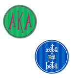 Divine 9 Sorority Round Decal Sticker - Alexandra and Co. - Campus Connection - 1