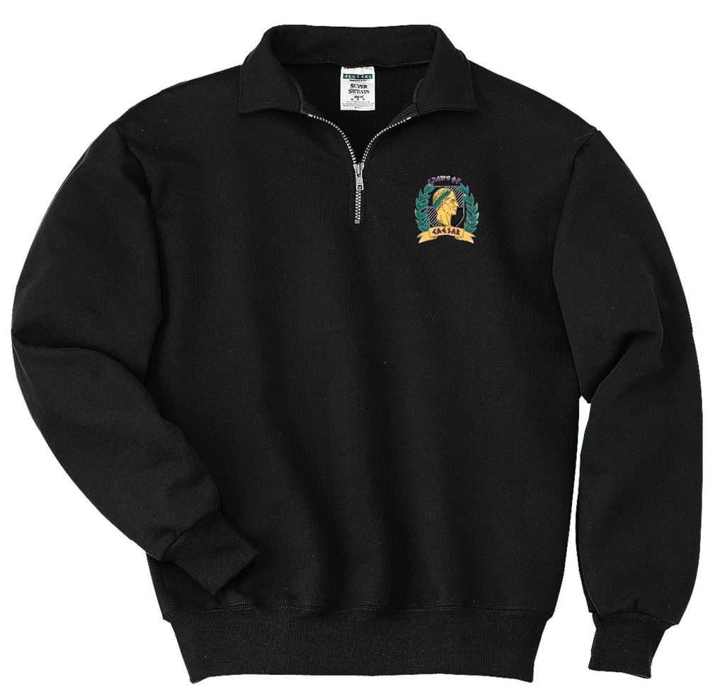 Krewe of Caesar Quarter Zip Sweatshirt with Crest - Campus Connection - Campus Connection