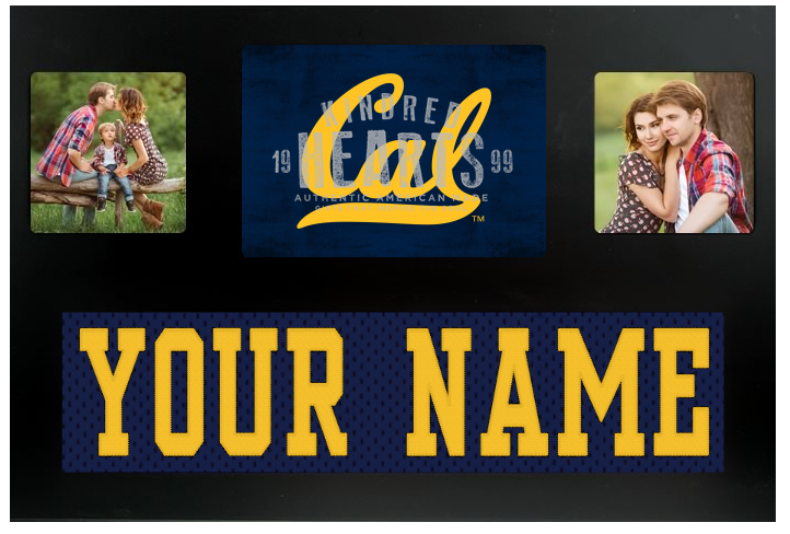 Cal State Golden Bears NCAA Jersey Nameplate Custom Picture Frame