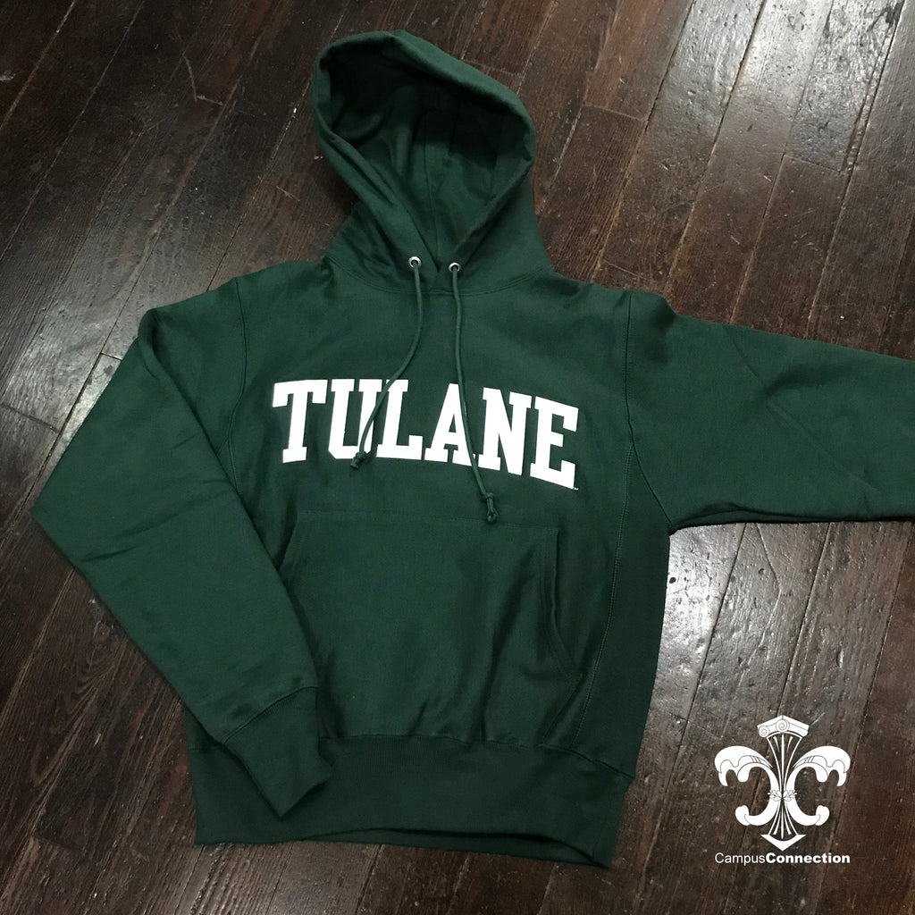 Tulane Champion Reverse Weave Hooded Sweatshirt