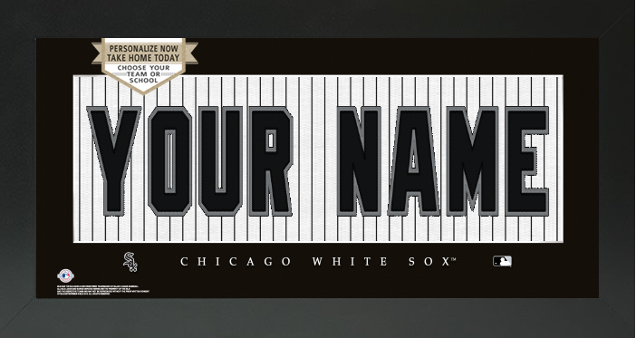 Chicago White Sox MLB Jersey Nameplate Custom Framed Sign