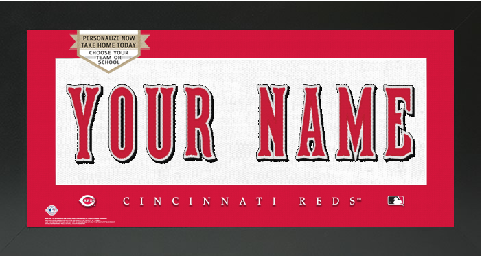 Cincinnati Reds MLB Jersey Nameplate Custom Framed Sign