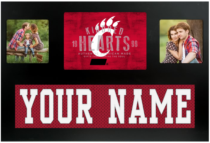 Cincinnati Bears NCAA Jersey Nameplate Custom Picture Frame