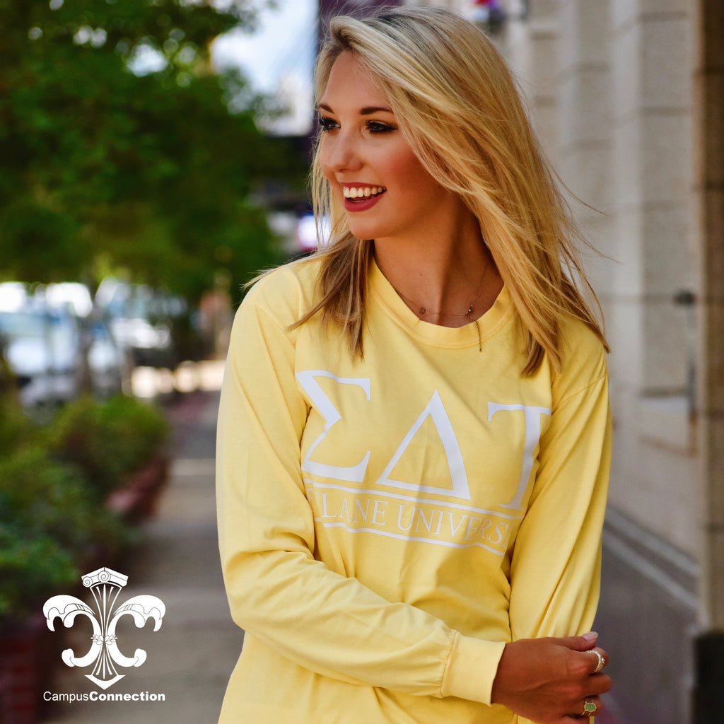 Comfort Colors Long Sleeve Shirt with Classic Bar Design