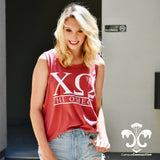 Comfort Colors Tank Top with Classic Bar Design