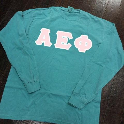 Vinyl-Letter Comfort Colors Long Sleeve T-Shirt