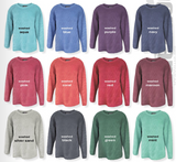 Corded Sorority Crewneck Sweatshirt with Bar Design