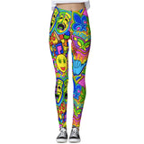 Corey Paige Leggings - Mardi Gras Collage