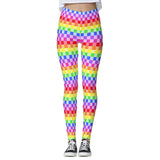 Corey Paige Leggings - Rainbow Checkered