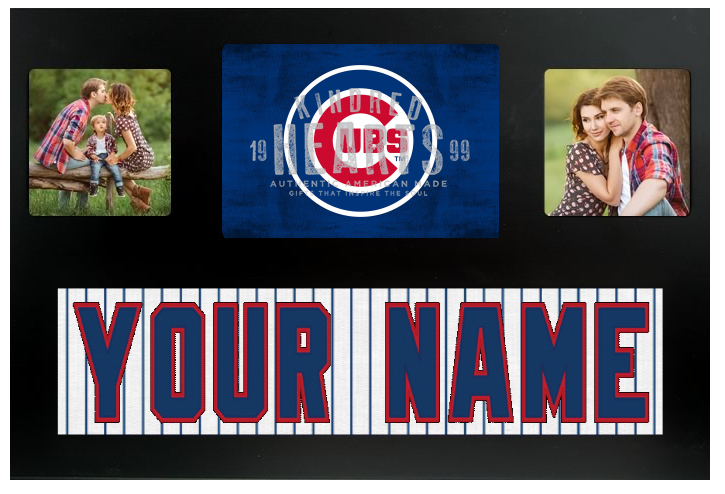 Chicago Cubs  MLB Jersey Nameplate Custom Picture Frame