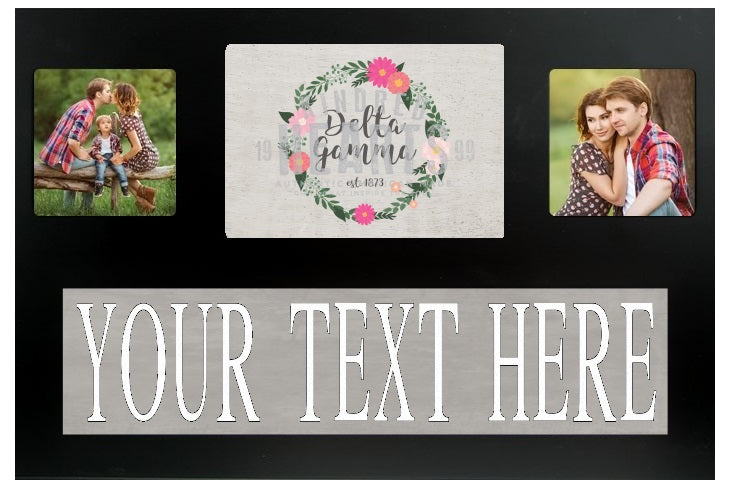 Delta Gamma Floral Custom Picture Frame