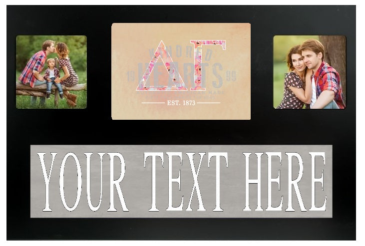 Delta Gamma Letters Custom Picture Frame