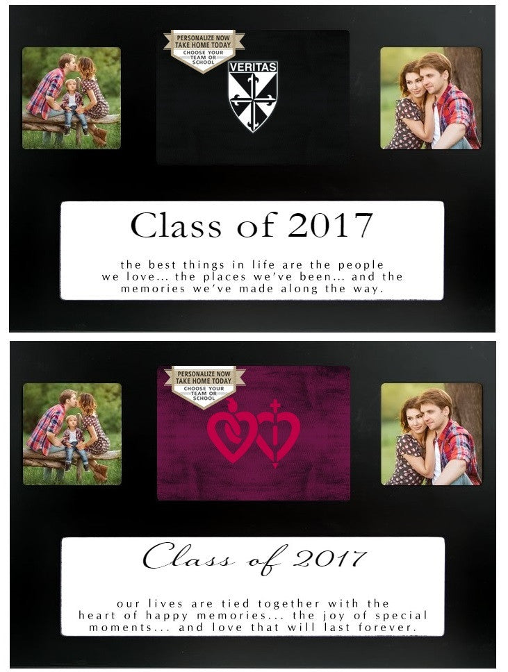 High School Class of 2017 Graduation 2-Photo Picture Frame
