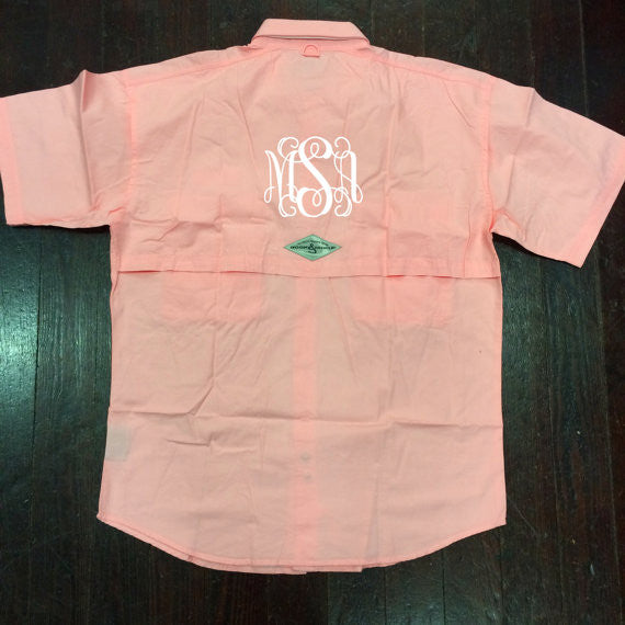 Monogrammed Fishing Shirt - Campus Connection - Campus Connection - 1