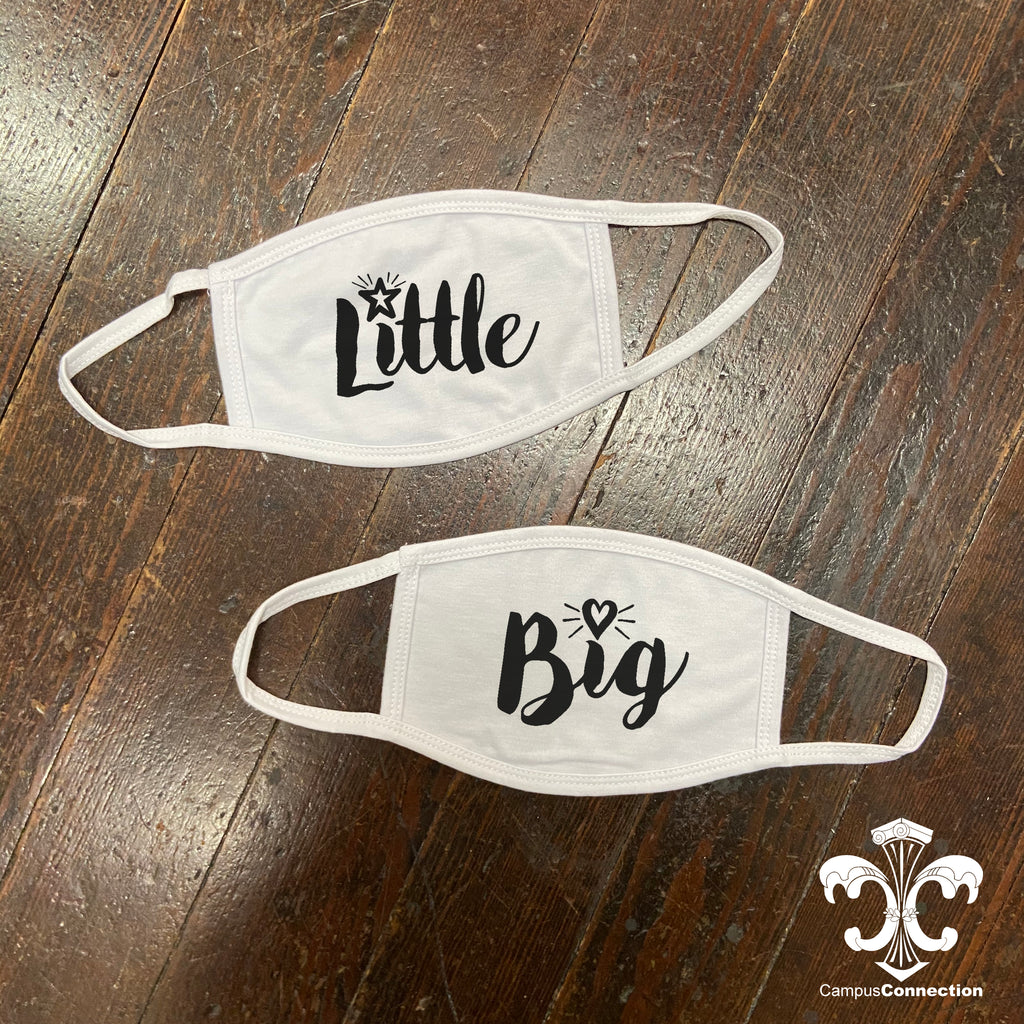 Big/Little Face Mask - Modern Script