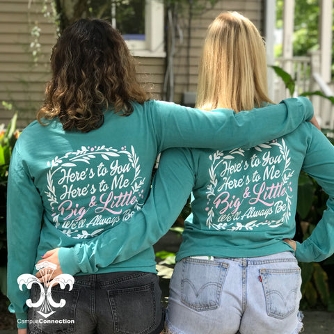 Big/Little Floral Sorority Comfort Colors Long Sleeve Shirt