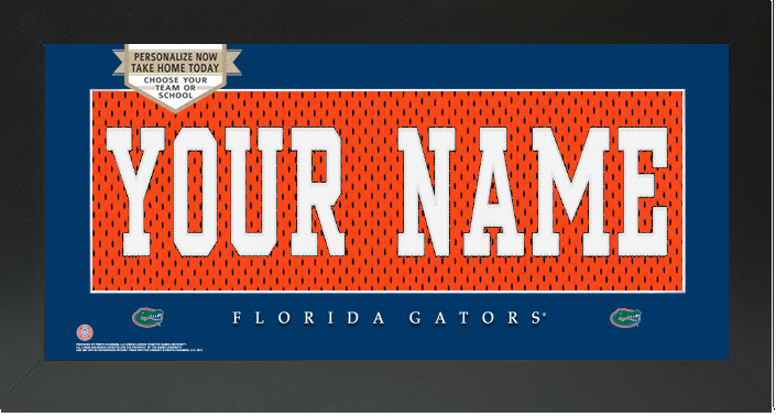 Florida Gators NCAA Jersey Nameplate Custom Framed Sign