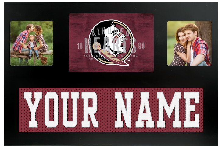 Florida State Seminoles NCAA Jersey Nameplate Custom Picture Frame