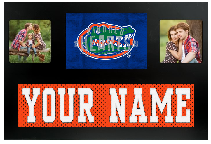 Florida Gators NCAA Jersey Nameplate Custom Picture Frame
