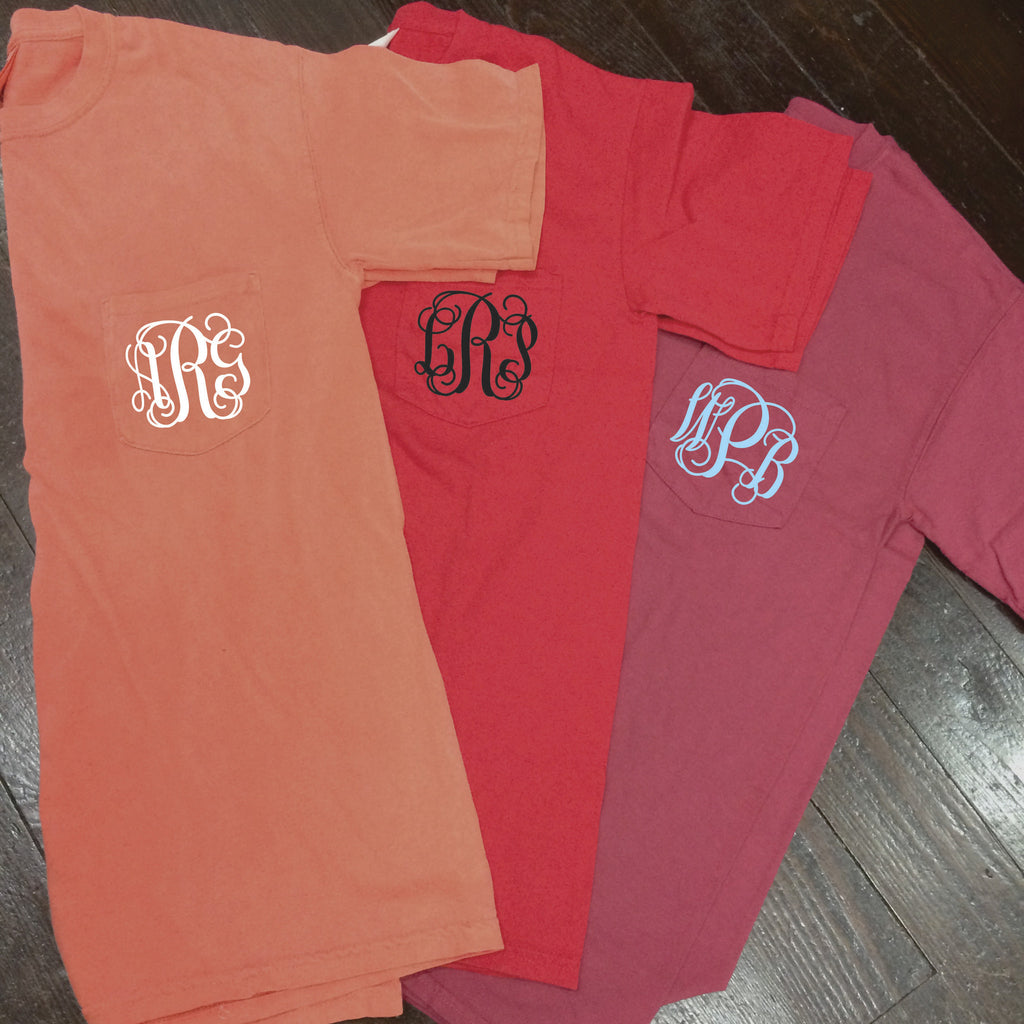 Monogrammed Comfort Colors Frocket - Campus Connection - Campus Connection - 1