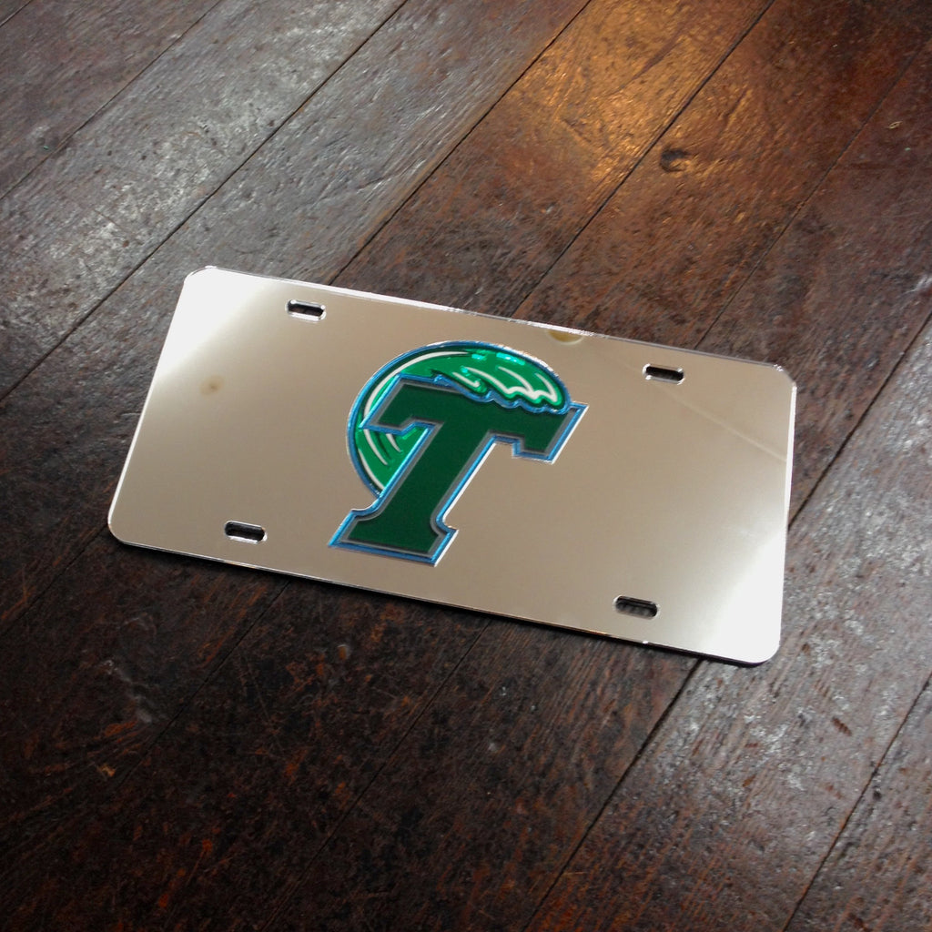 Tulane Mirror License Plate - Laser Magic - Campus Connection