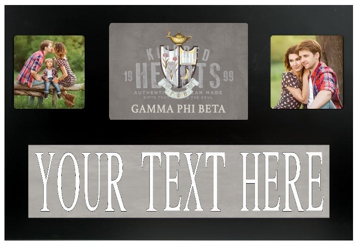 Gamma Phi Beta Crest Custom Picture Frame