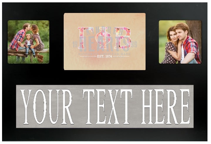 Gamma Phi Beta Letters Custom Picture Frame