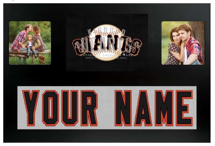 San Francisco Giants Dodgers MLB Jersey Nameplate Custom Picture Frame