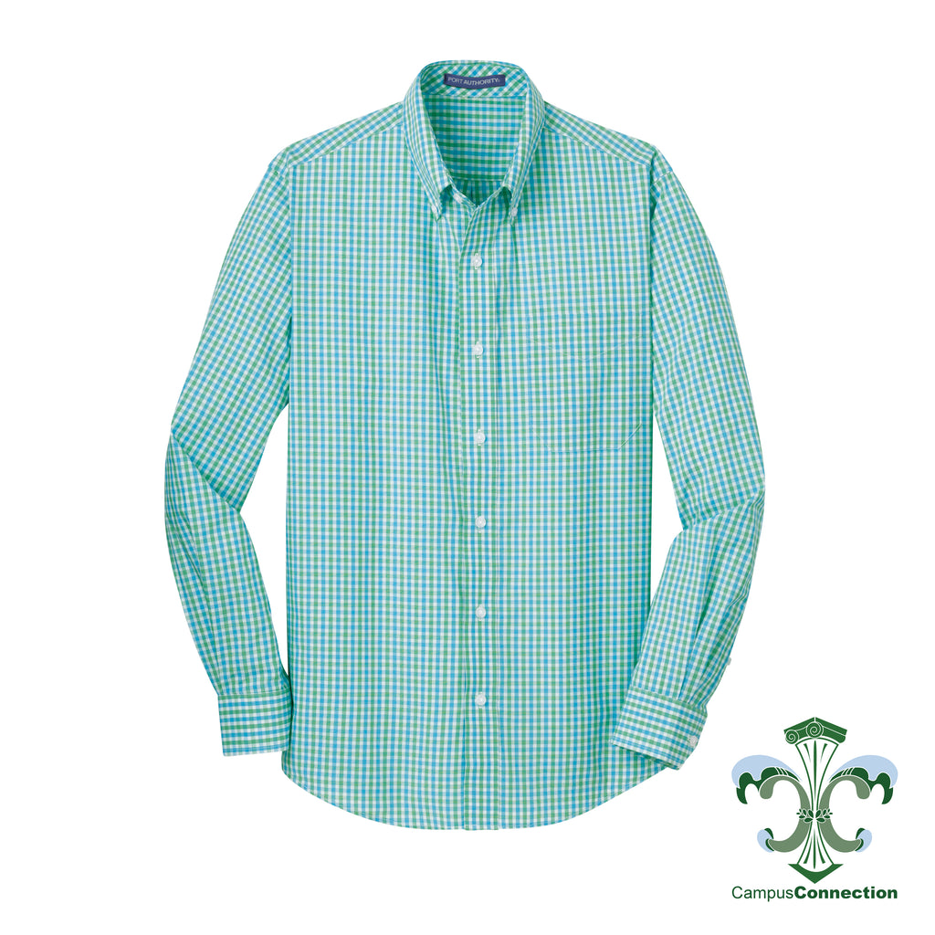 Green/Blue Gingham Plaid Button Down