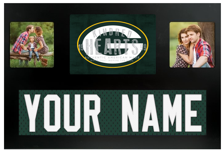Green Bay Packers NFL Jersey Nameplate Custom Picture Frame – Campus ...