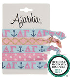 Sorority Hair Tie Pack - Azarhia - Campus Connection - 6