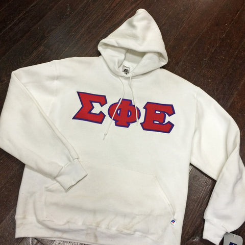 Vinyl-Letter Hooded Sweatshirt