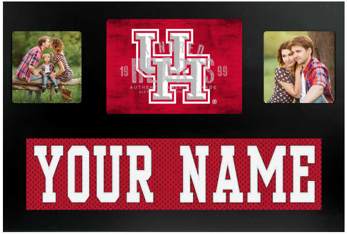 Houston Cougars NCAA Jersey Nameplate Custom Picture Frame