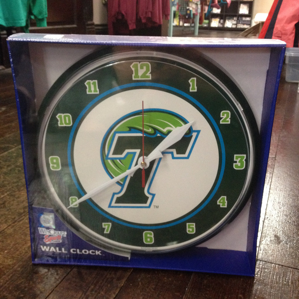 Tulane Wall Clock - Wincraft - Campus Connection