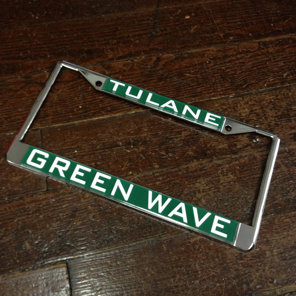 Tulane License Plate Frame - Laser Magic - Campus Connection