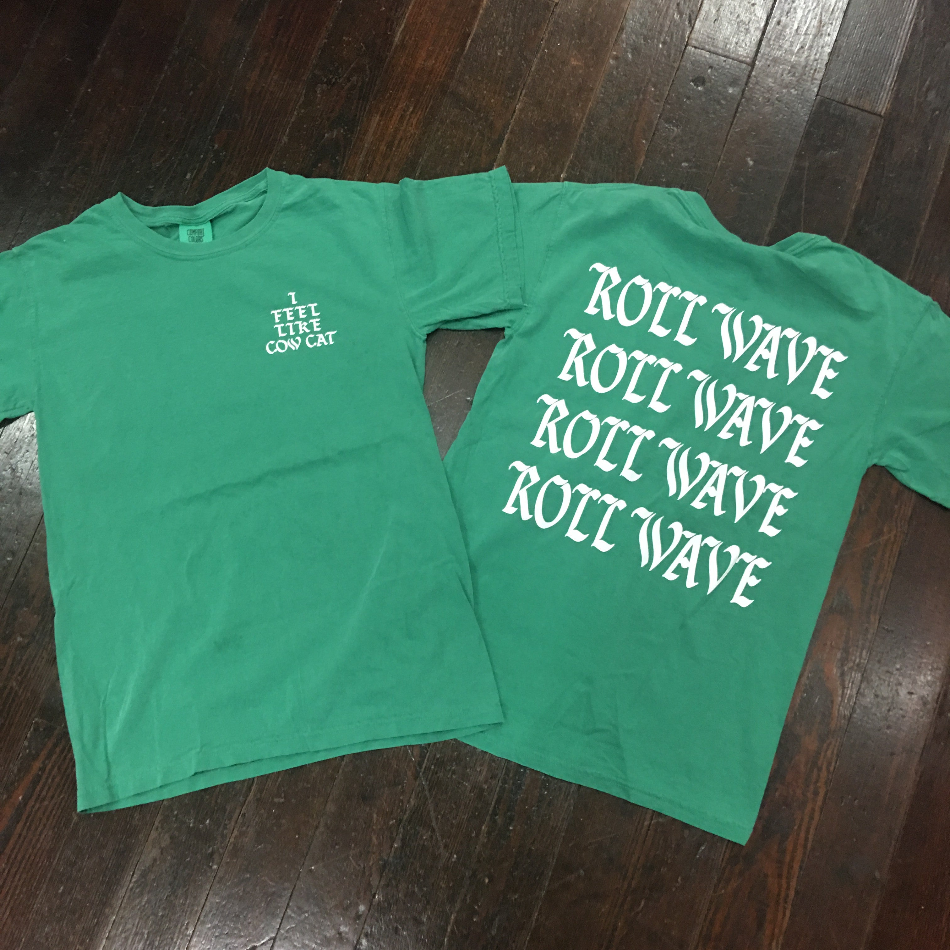 Home college tulane green wave tulane green wave silver plated - I Feel Like Cow Cat Comfort Colors Tee