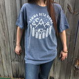 Comfort Colors Sorority T-Shirt with Camp Design