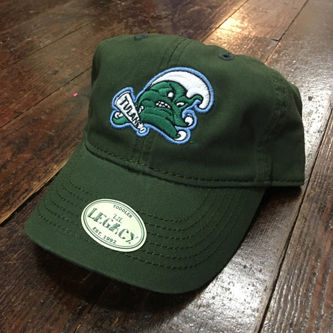 Toddler Tulane Angry Wave Hat - Green