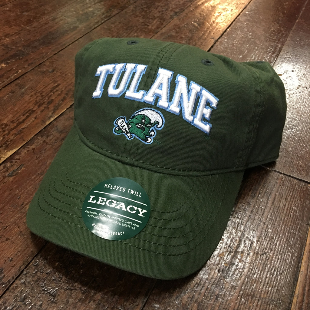 Tulane Angry Wave Hat with Name - Green