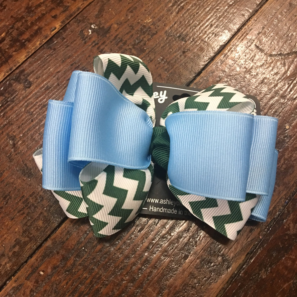 Chevron Loop Hair Bow