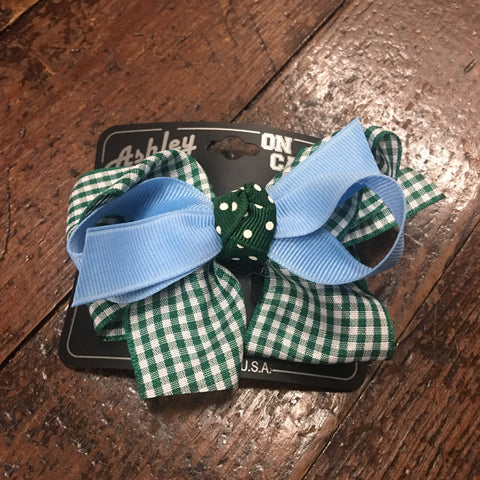 Curly Gingham Hair Bow